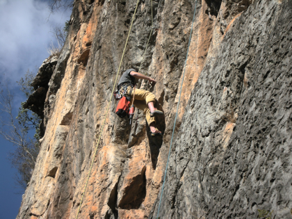 Alberto Bolting a new route in Fumin Yunnan China