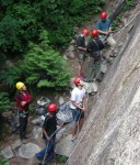 Kids learning how to belay at Squamish