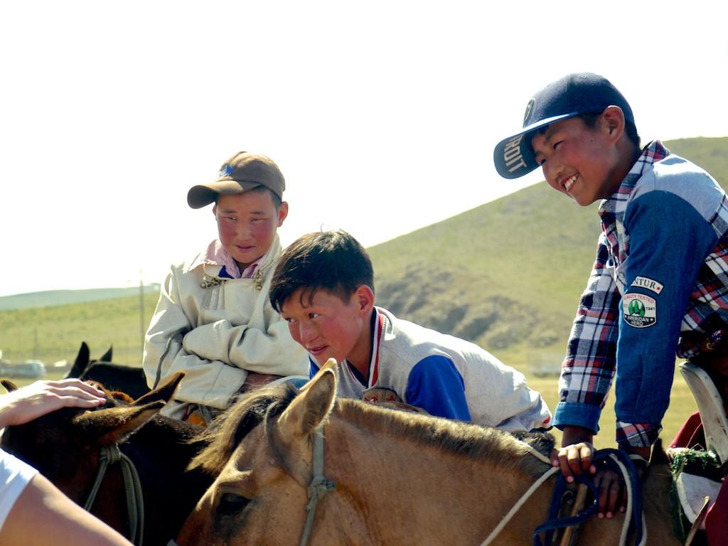 Kids Horses Mongolia