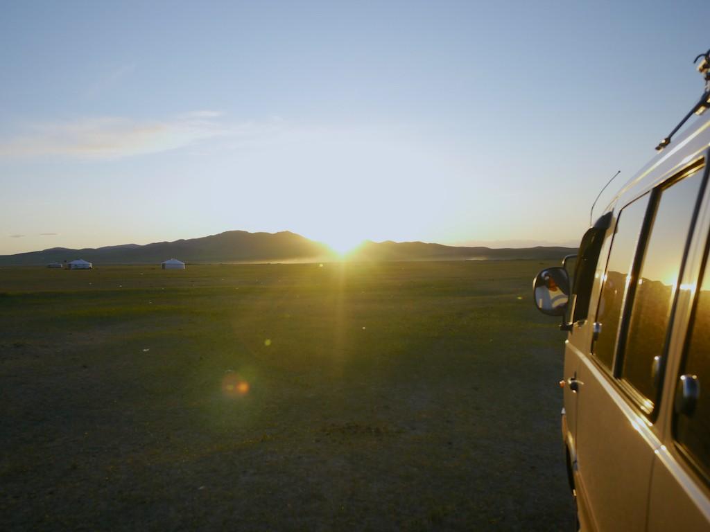 sunset wan mongolia