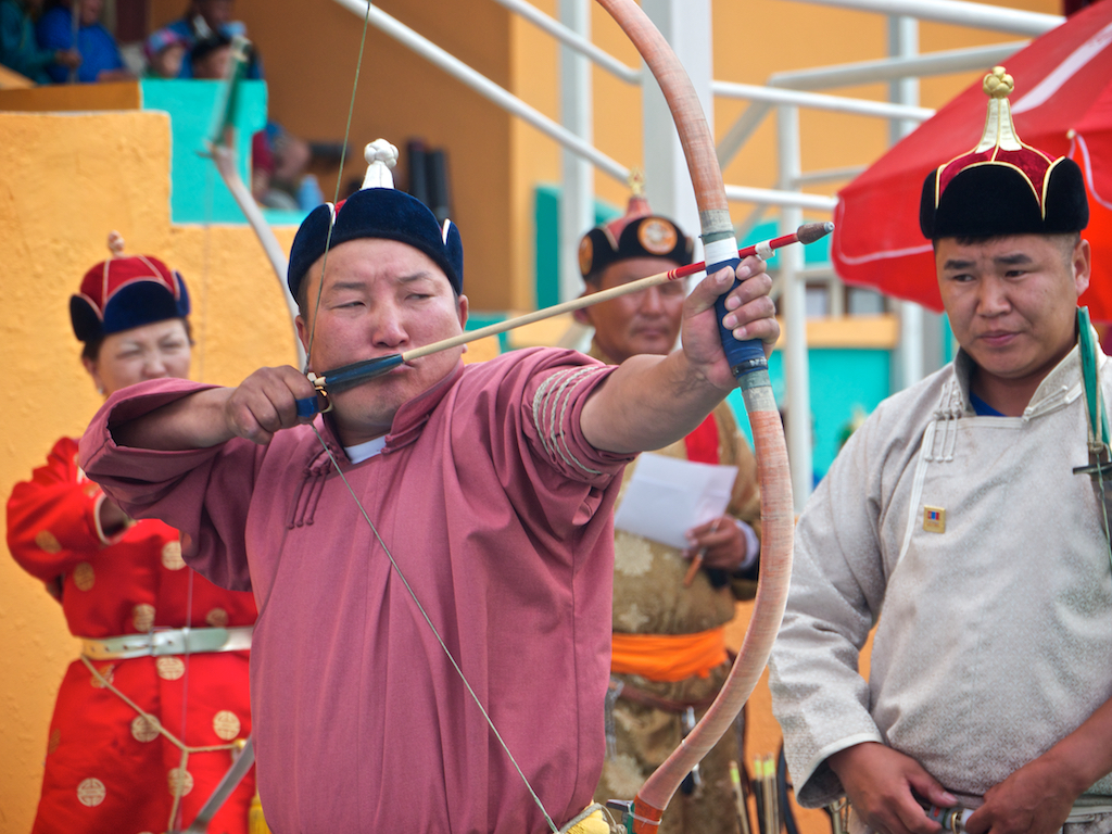 Archers Naadam Festival Ulaanbaatar, Mongolia